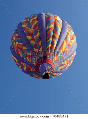 Colorful Hot Air Balloon Launched At The Annual Metamora Country Days And Hot Air Balloon Festival.