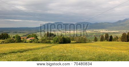 Murnau Wetlands In The Bavarian Foothills, Thundery Mood