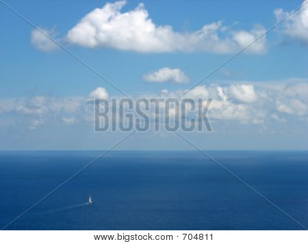 Beautiful Sea View And Blue Sky