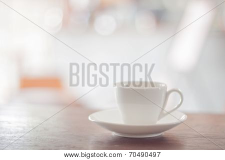 White Coffee Cup With Espresso Shot