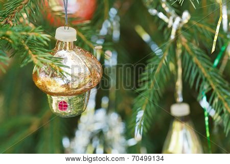 Glass House Christmas Decoration