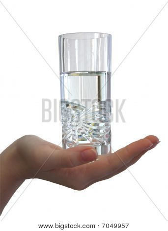 Glass Of Water In A Hand