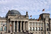 The Reichstag building in Berlin: German parliament poster