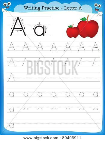 Writing Practice Letter A