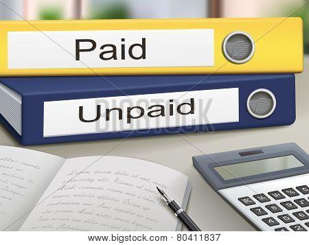 Paid And Unpaid Binders