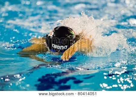 Milan - December  23:  G. Detti   (italy)  Performing Freestyle  In  Swimming Meeting Brema Cup On D
