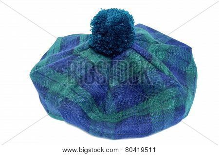Traditional Scottish Green Tartan Bonnet.