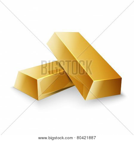 two gold nuggets