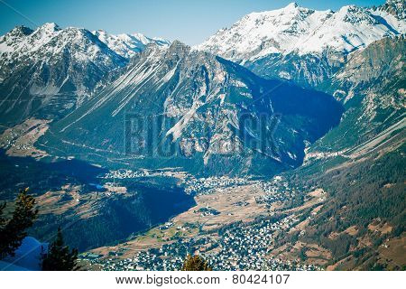 The beautiful landscape of the Alps