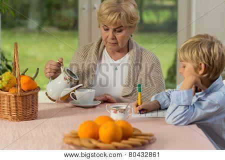 Tea During Schoolwork