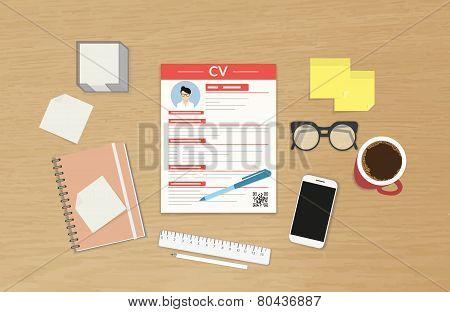 CV template presentation