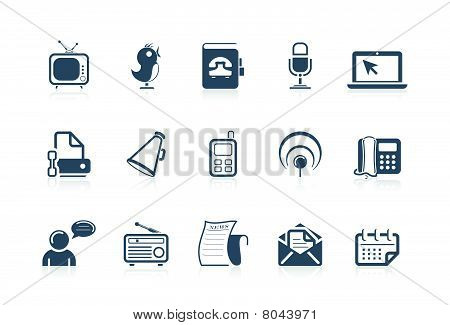 Communication And Social Icons