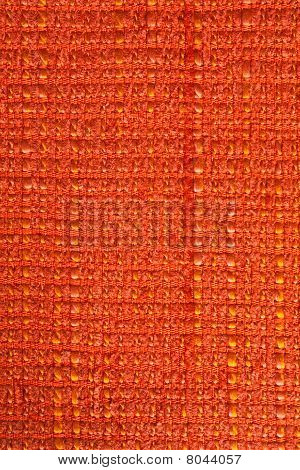 texture of orange Fabric and closeup background poster