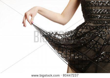 Sequin dress detail