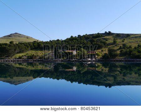 The island Kornat in Croatia