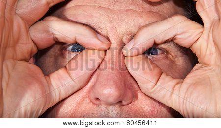 Eyes Of A Man In Detail