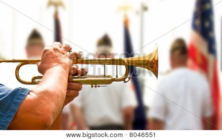 Bugle Plying Taps