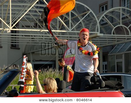 German Soccer Fans Celebrating Another Victory