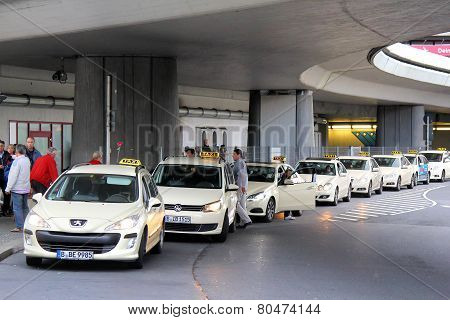 Parking Of The Taxi Cars