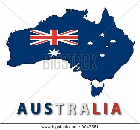Australia territory with flag texture.