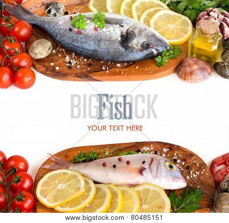 Fresh Fish, Seafood And Vegetables