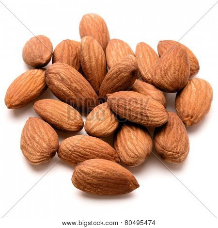 almond nuts isolated on white background close up poster