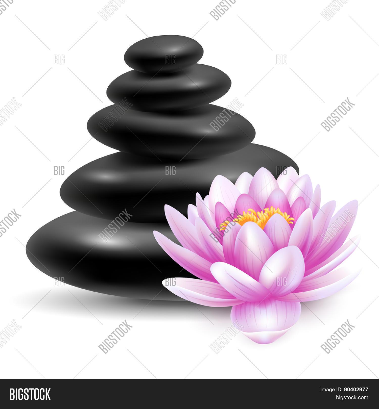 Spa still life black vector photo free trial bigstock spa still life with black massage stones and pink lotus flower vector illustration isolated izmirmasajfo