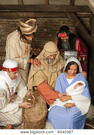 Wisemen Christmas Scene