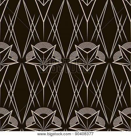 Art Deco Vector Geometric Pattern. Seamless Texture Background Design