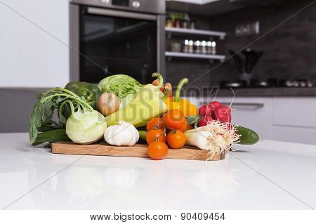 Vegetable In A Kitchen