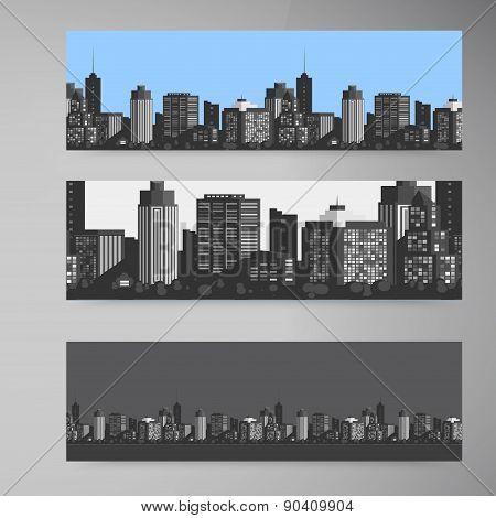 Vector Banner modern city.