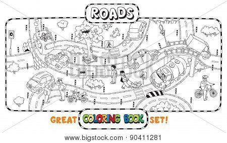 Big road coloring book