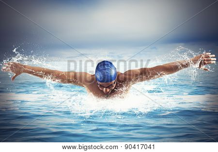 Swimming in the sea