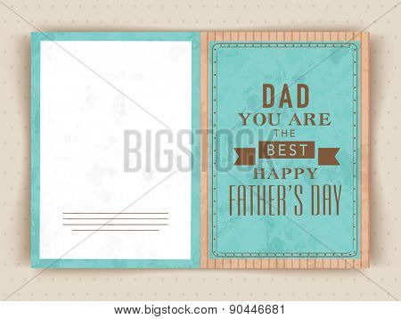 Greeting card design with text