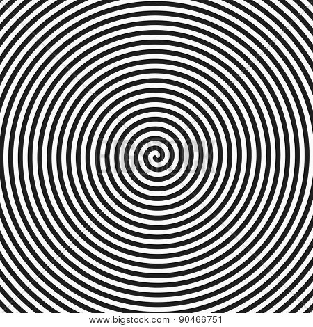Hypnosis spiral background. Vector.