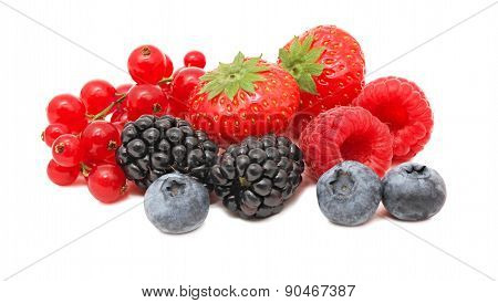 Stack Of Different Berries (isolated)