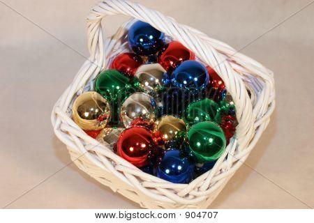 Basket Of Ornaments