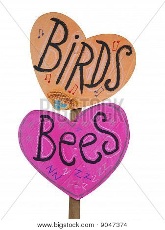 Birds And Bees Placard