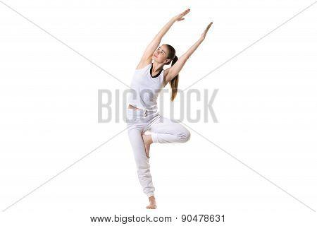 Bending In Yoga Tree Pose