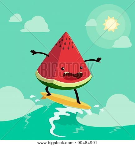 Surfing Watermelon