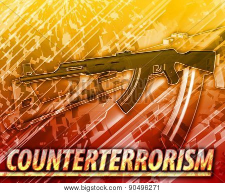 Abstract background digital collage concept illustration counterterrorism terrorism