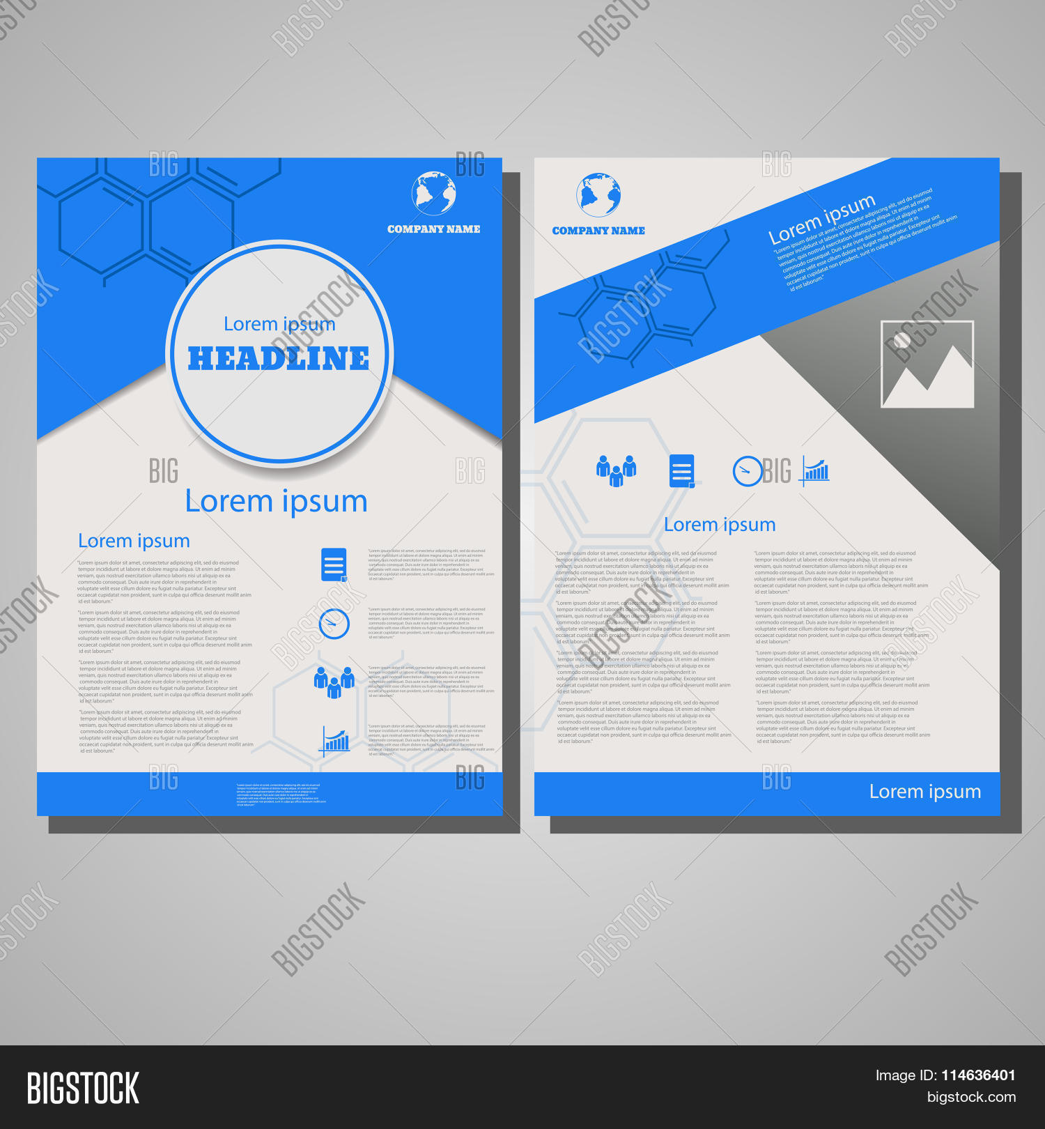 blue colour brochure vector photo free trial bigstock