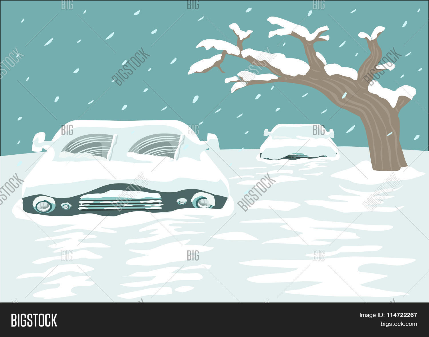 Great Snowfall Vector & Photo (Free Trial) | Bigstock