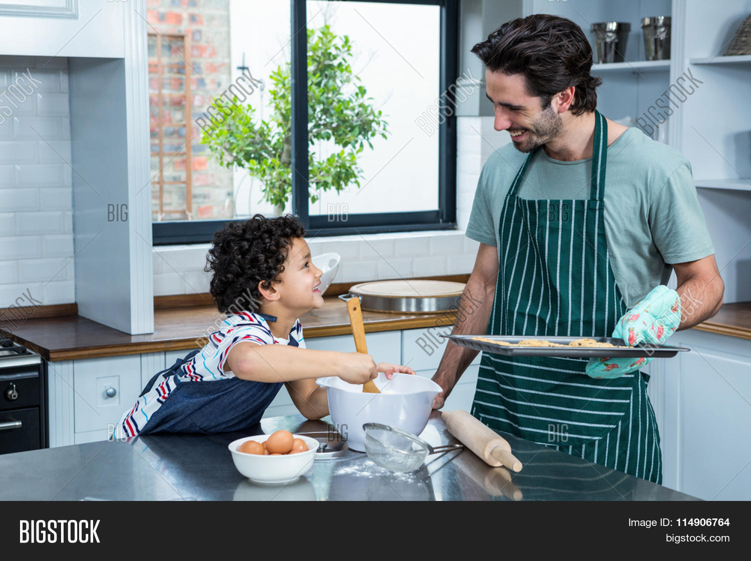 Smiling Father Son Image & Photo (Free Trial) | Bigstock