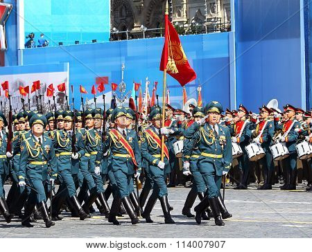 Ceremonial March Of The Armed Forces Of Kyrgyzstan Unit