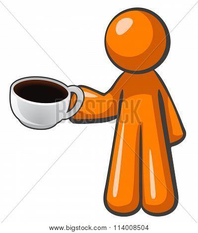 Orange Man Coffee Cup