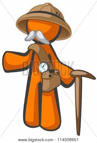 Orange Man Dr Livingstone, Explorer And Adventurer
