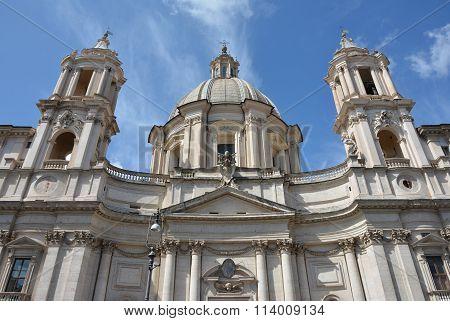 Santa Agnese In Agone In Piazza Navona Square, Rome