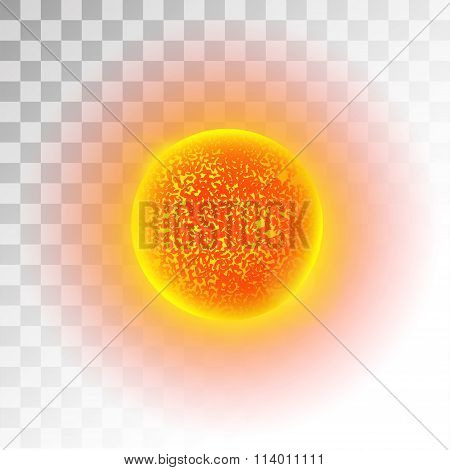 Sun star planet 3d vector illustration