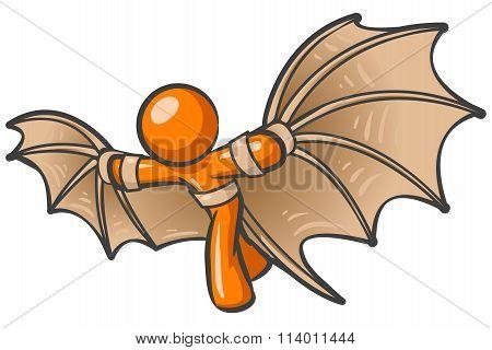 Orange Man Dreams Of Flight